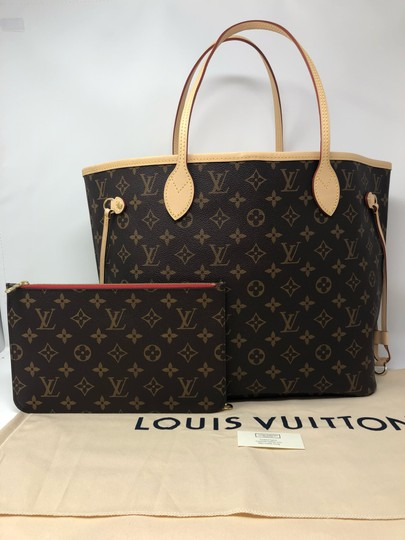 Louis Vuitton Neverfull Mm Neverfull Neverfull Monogram Neverfull With Pouch Neverfull Cherry Tote in Cerise Image 3