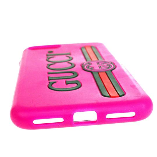 Gucci Authentic GUCCI Sherry iPhone 10 Cell Phone Case Leather Rubber Pink Image 2