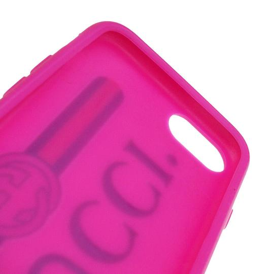 Gucci Authentic GUCCI Sherry iPhone 10 Cell Phone Case Leather Rubber Pink Image 9