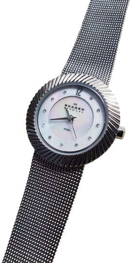 Preload https://img-static.tradesy.com/item/26055780/skagen-denmark-stainless-steel-mesh-band-pearl-dial-sparkling-crystals-water-resistant-watch-0-2-540-540.jpg