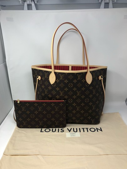 Louis Vuitton Neverfull Neverfull Mm Neverfull Neverfull Monogram Neverfull Tote in Cherry Image 1