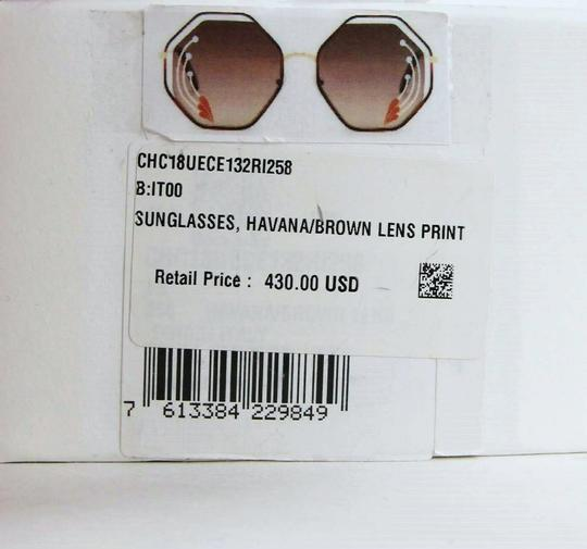 Chloe Poppy Gold Metal/Havana Large Octogon Sunglasses CHC18UECE132RI258 Image 10