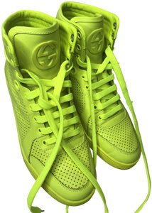 Gucci Leather Neon Yellow Athletic