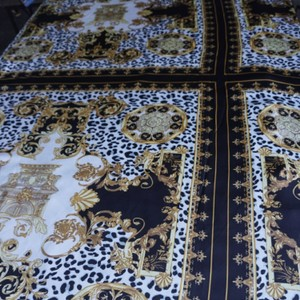 100% VERSACE PANEL FABRIC 64/64 INCH 100% SILK FOR SEWING DRESS Versace fabric panel 64/64 inch