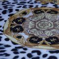 100% VERSACE PANEL FABRIC 64/64 INCH 100% SILK FOR SEWING DRESS Versace fabric panel 64/64 inch Image 1