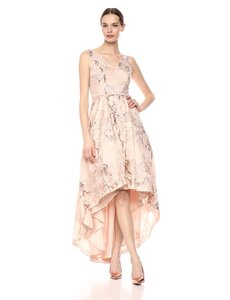 CALVIN KLEIN Gown Sequin High Low Special Ocassion Fit And Flare Dress