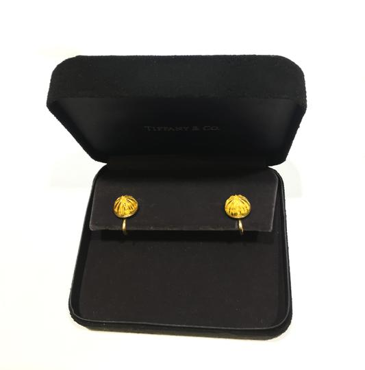 Tiffany & Co. Vintage Carved Citrine 18k Yellow Gold Earrings Image 2