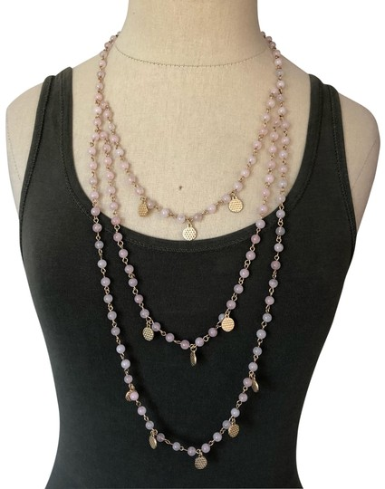 Preload https://img-static.tradesy.com/item/26055912/pink-and-gold-quartz-crystal-layered-necklace-0-2-540-540.jpg