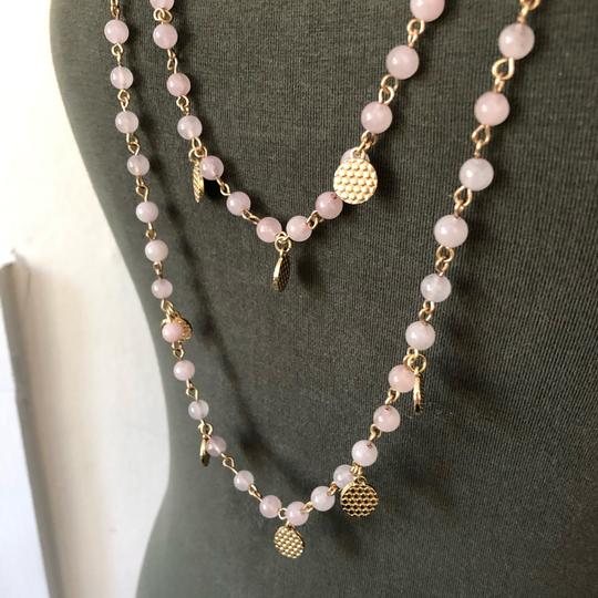 Marlyn Schiff Marlyn Schiff Pink Quartz Crystal Layered Necklace Image 1