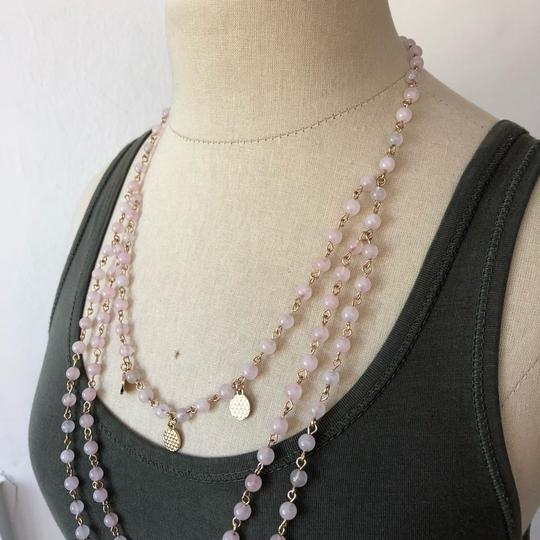 Marlyn Schiff Marlyn Schiff Pink Quartz Crystal Layered Necklace Image 2