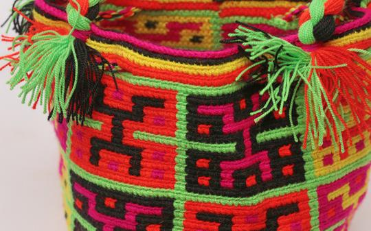 Wayuu Tribe Boho Chic Casual Hobo Bag Image 3