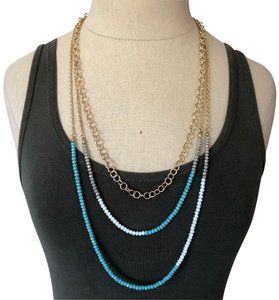 Marlyn Schiff Marlyn Schiff 3 Layer Turquoise Crystal Necklace