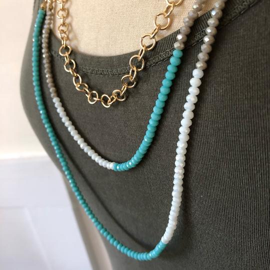 Marlyn Schiff Marlyn Schiff 3 Layer Turquoise Crystal Necklace Image 1