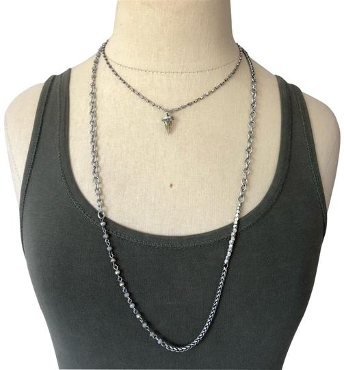 Preload https://img-static.tradesy.com/item/26055964/silver-bead-crystal-pyramid-layer-necklace-0-2-540-540.jpg