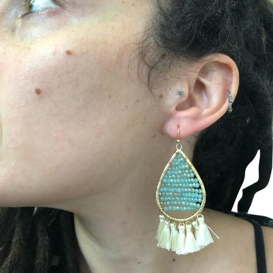 Preload https://img-static.tradesy.com/item/26055984/blue-and-gold-crystal-and-tassel-teardrop-earrings-0-2-540-540.jpg