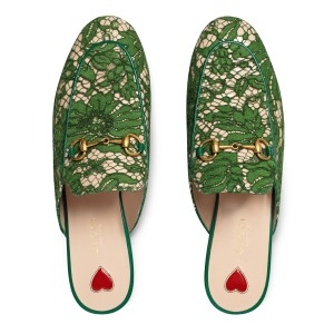 Gucci Green Mules