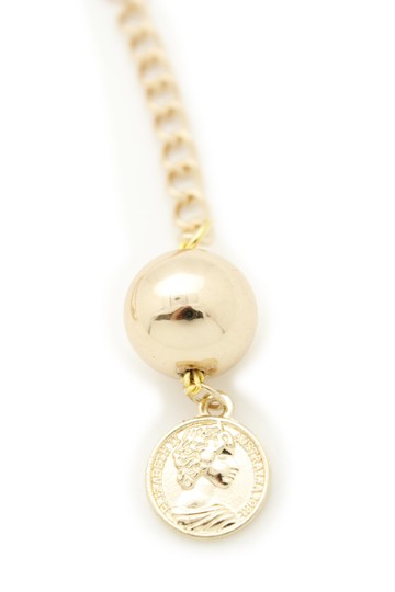 Alwaystyle4you Women Fashion Skinny Belt Gold Metal Chain Coin Ball Charm M L XL Image 1