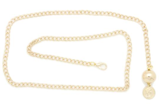 Alwaystyle4you Women Fashion Skinny Belt Gold Metal Chain Coin Ball Charm M L XL Image 4