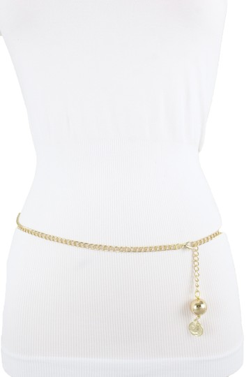 Alwaystyle4you Women Fashion Skinny Belt Gold Metal Chain Coin Ball Charm M L XL Image 6