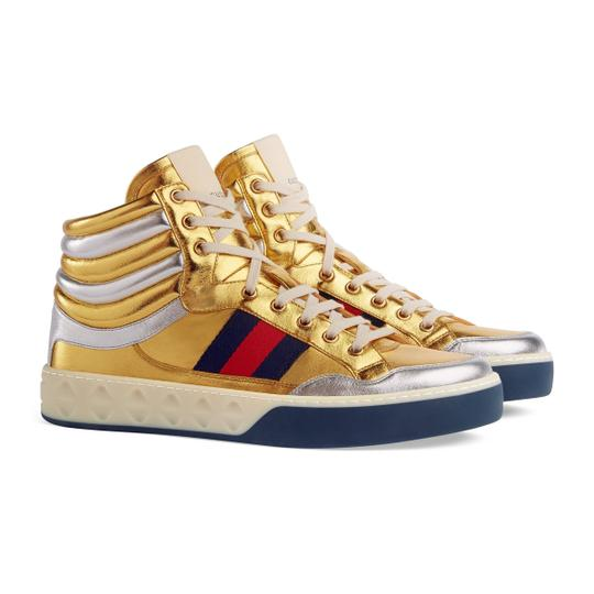 Preload https://img-static.tradesy.com/item/26056098/gucci-gold-men-s-metallic-leather-high-top-sneakers-size-us-7-regular-m-b-0-0-540-540.jpg