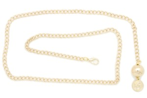 Alwaystyle4you Women Fashion Skinny Belt Gold Metal Chain Coin Ball Charm Plus XL XX