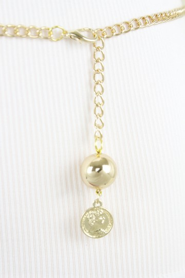 Alwaystyle4you Women Fashion Skinny Belt Gold Metal Chain Coin Charm Plus Size XL XX Image 5