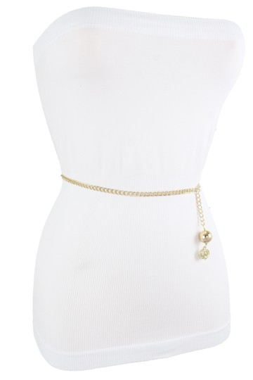 Alwaystyle4you Women Fashion Skinny Belt Gold Metal Chain Coin Charm Plus Size XL XX Image 8