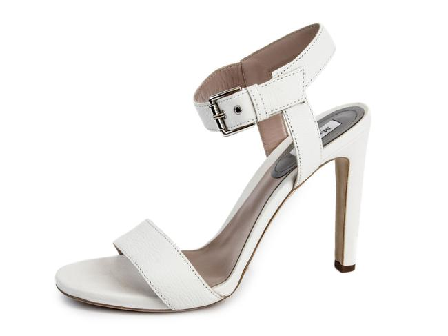 Item - White Urago Leather Ankle Strap Sandals Size US 11 Regular (M, B)