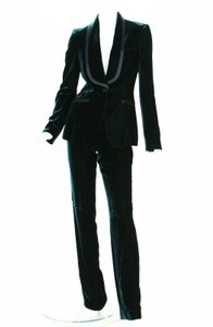 Tom Ford Tom Ford/Gucci Velvet Dark Green Tuxedo Pant Suit Runway Collection