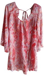 Ella Moss short dress red/blue/orange/white Silk on Tradesy