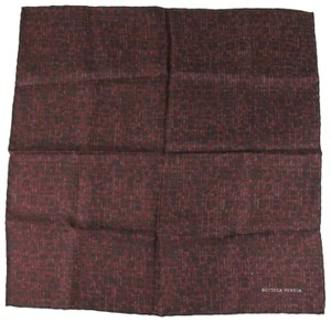 Bottega Veneta Bottega Veneta Men's Burgundy/Brown Silk Handkerchief 313426 2073