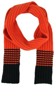 Gucci Men's/Unisex Red Wool Long Scarf with White Stripes 398672 7560