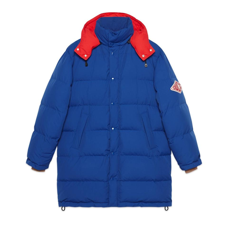 latest trends of 2019 unequal in performance pretty and colorful Gucci Blue Men's Blueprint Caban Down Jacket Coat Size 16 (XL, Plus 0x)