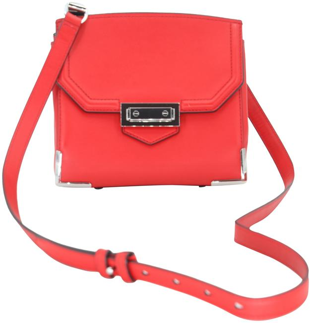Alexander Wang Crossbody Box Padded Small Marion Red Silver Tone Cowhide Leather Shoulder Bag Alexander Wang Crossbody Box Padded Small Marion Red Silver Tone Cowhide Leather Shoulder Bag Image 1