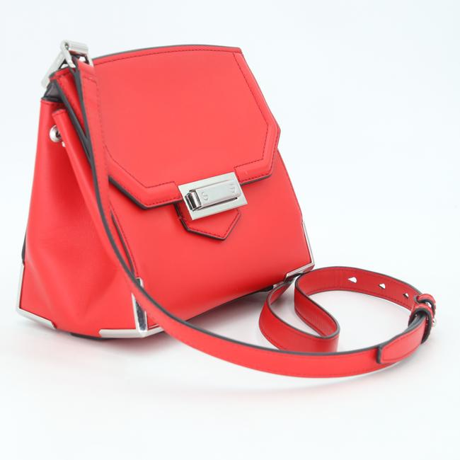 Alexander Wang Crossbody Box Padded Small Marion Red Silver Tone Cowhide Leather Shoulder Bag Alexander Wang Crossbody Box Padded Small Marion Red Silver Tone Cowhide Leather Shoulder Bag Image 5