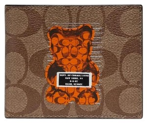 "Coach Authentic Coach Limited Edition ""Vandal Gummy"" Monogram Bifold Wallet"