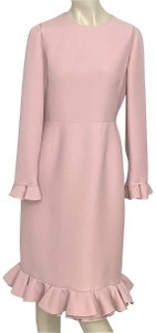 Valentino Vintage Pink Ruffle Dress