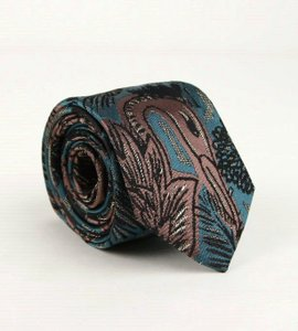 Burberry Teal/Brownish Pink Men's and Silk with Animal Print 4051672 Tie/Bowtie