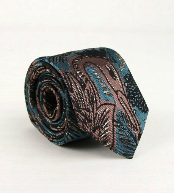Item - Teal/Brownish Pink Men's and Silk with Animal Print 4051672 Tie/Bowtie