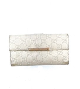 Gucci GG Guccissima Embossed Logo Leather Long Clutch Wallet Italy