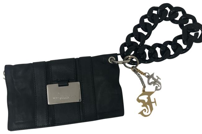 Item - Pouch Black Lambskin Leather Clutch