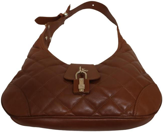 Item - Diamond Quilted Caramel Lambskin Leather Hobo Bag