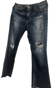 AG Adriano Goldschmied Flare Leg Jeans-Distressed