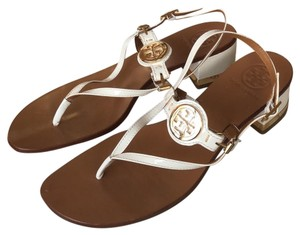 Tory Burch white, tan, gold Sandals