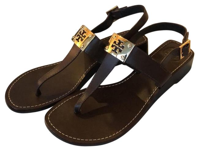 Item - Brown and Gold Sandals Size US 8 Regular (M, B)