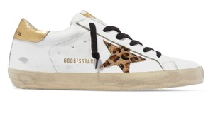 Golden Goose Deluxe Brand Sneakers Gold White leopard Athletic