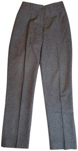 CACHAREL Pleated Wool Hook Fly Trouser Pants GRAY