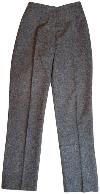 Item - Gray Pure Laine Wool Hook Fly Pleated Pants Size 6 (S, 28)