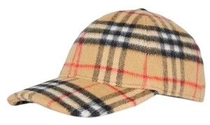 Burberry Checked wool adjustable unisex baseball hat