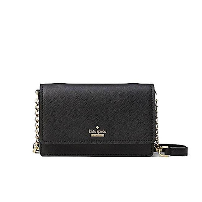 Item - Cameron Street - Shreya Black/Gold with Tag Leather Cross Body Bag